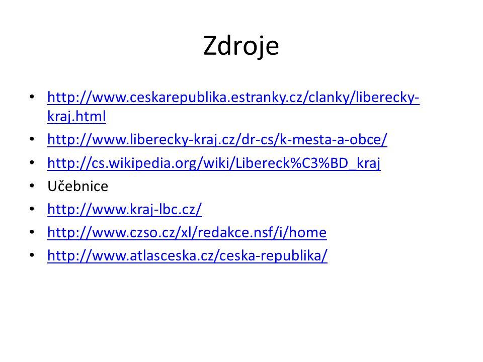Zdroje http://www.ceskarepublika.estranky.cz/clanky/liberecky- kraj.html http://www.ceskarepublika.estranky.cz/clanky/liberecky- kraj.html http://www.