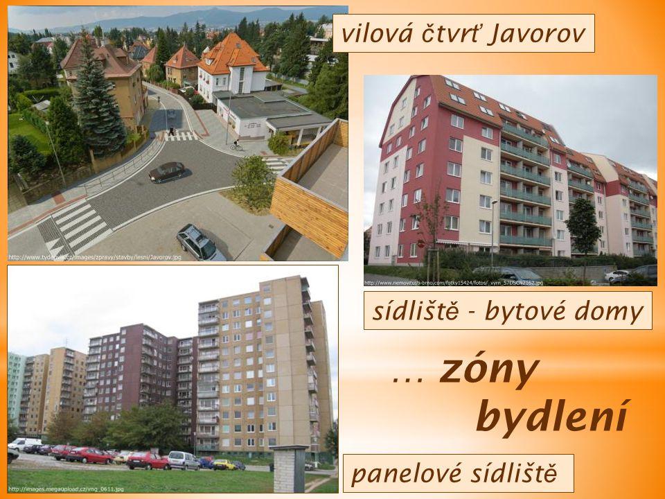 panelové sídlišt ě … zóny bydlení sídlišt ě - bytové domy vilová č tvr ť Javorov