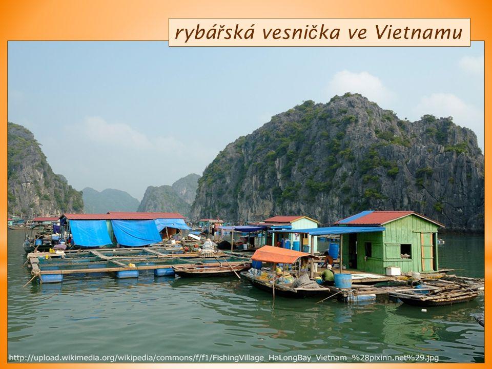 rybá ř ská vesni č ka ve Vietnamu