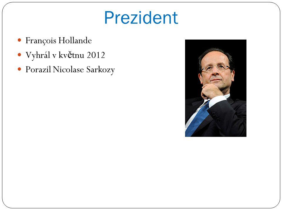 Prezident François Hollande Vyhrál v kv ě tnu 2012 Porazil Nicolase Sarkozy