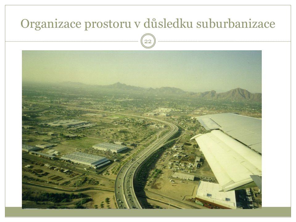 Organizace prostoru v důsledku suburbanizace 22