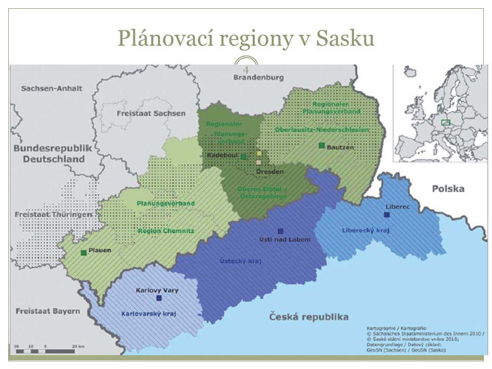 Plánovací regiony v Sasku 4