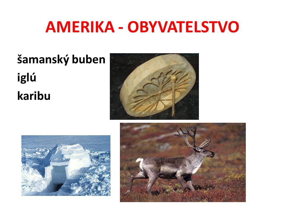 AMERIKA - OBYVATELSTVO šamanský buben iglú karibu