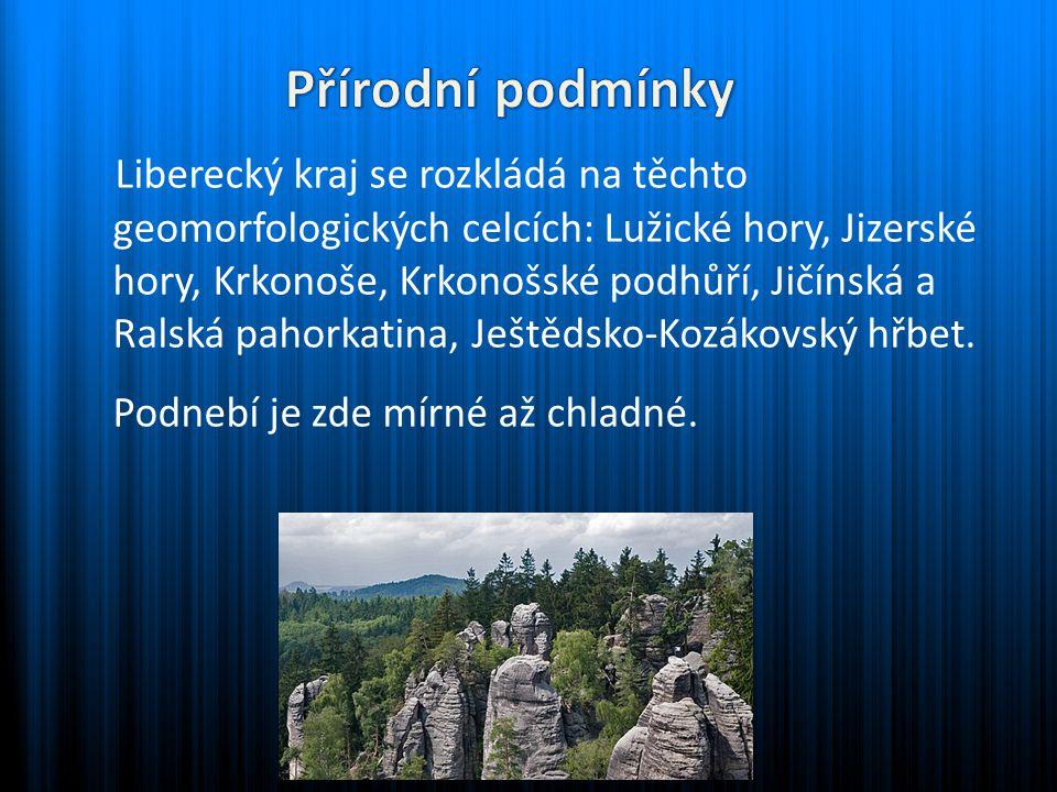 Liberecký kraj se rozkládá na těchto geomorfologických celcích: Lužické hory, Jizerské hory, Krkonoše, Krkonošské podhůří, Jičínská a Ralská pahorkati