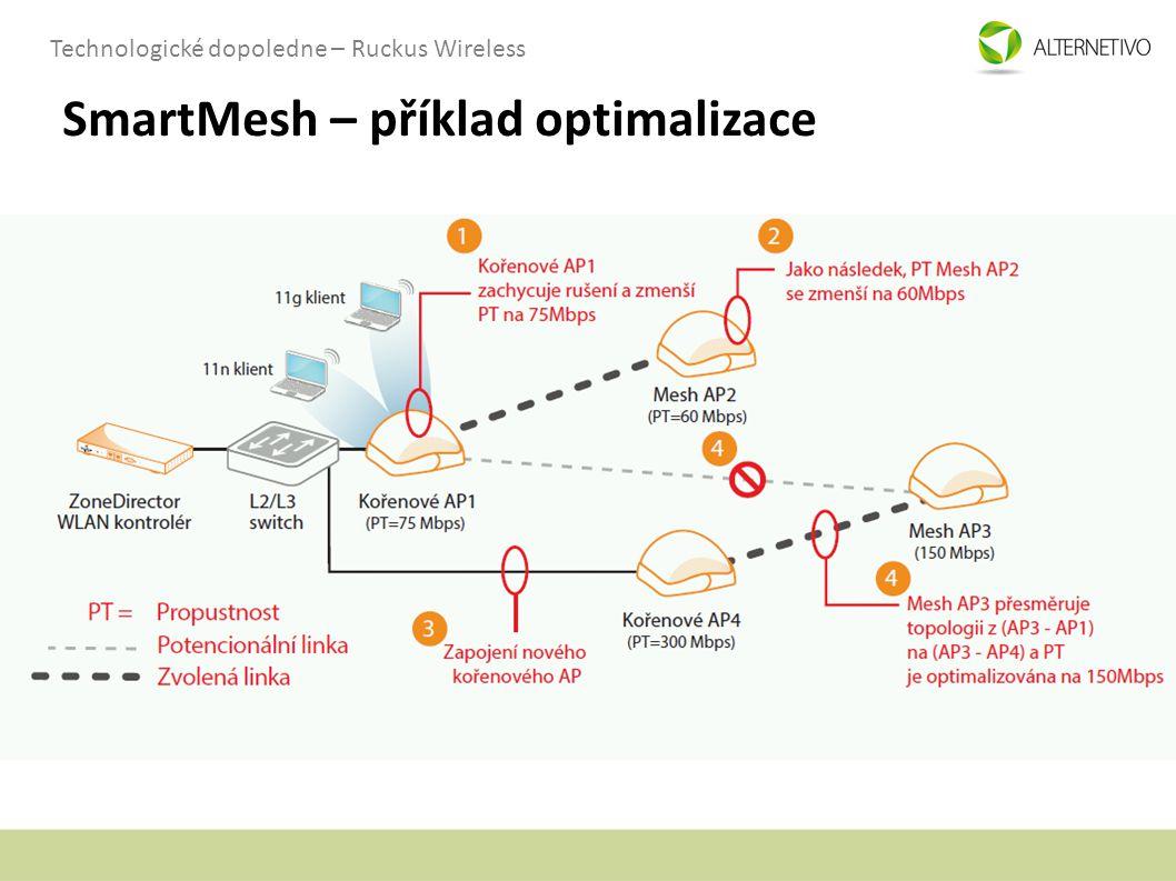 Technologické dopoledne – Ruckus Wireless SmartMesh – příklad optimalizace