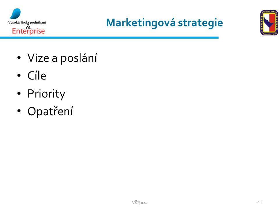 & Marketingová strategie Vize a poslání Cíle Priority Opatření VŠP, a.s.41