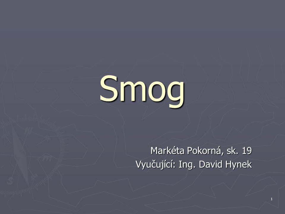 1 Smog Markéta Pokorná, sk. 19 Vyučující: Ing. David Hynek