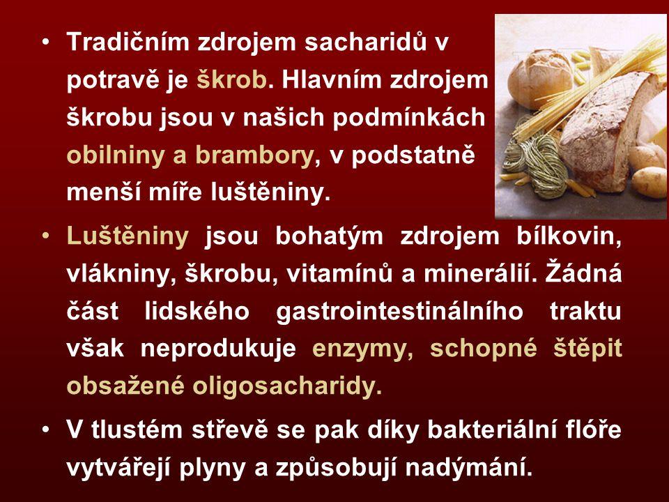 Tradičním zdrojem sacharidů v potravě je škrob.