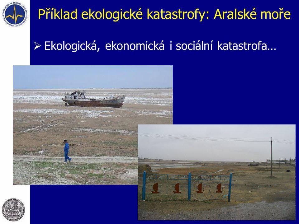 Příklad ekologické katastrofy: Aralské moře  Ekologická, ekonomická i sociální katastrofa…