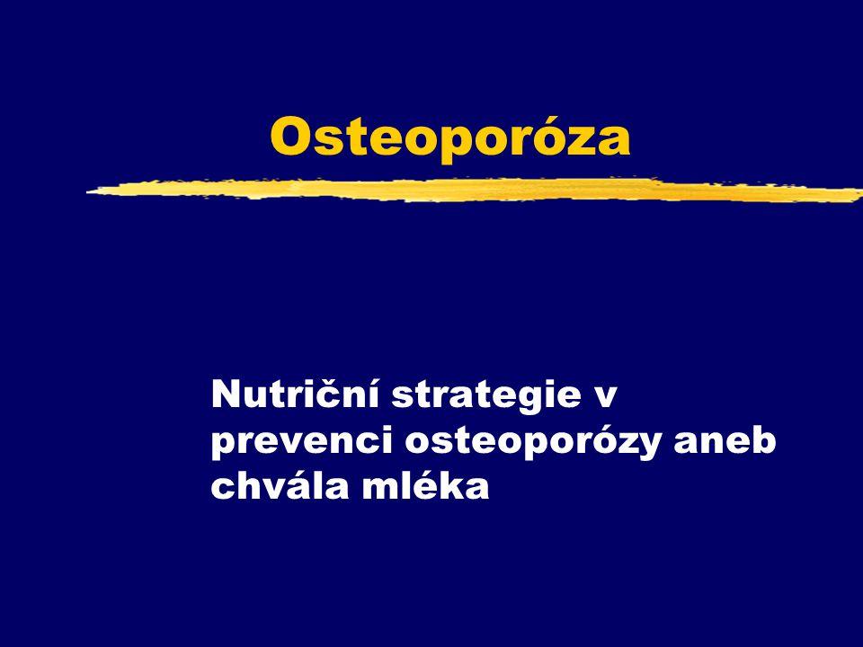 Osteoporóza Nutriční strategie v prevenci osteoporózy aneb chvála mléka