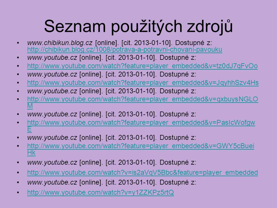 Seznam použitých zdrojů www.chibikun.blog.cz [online].