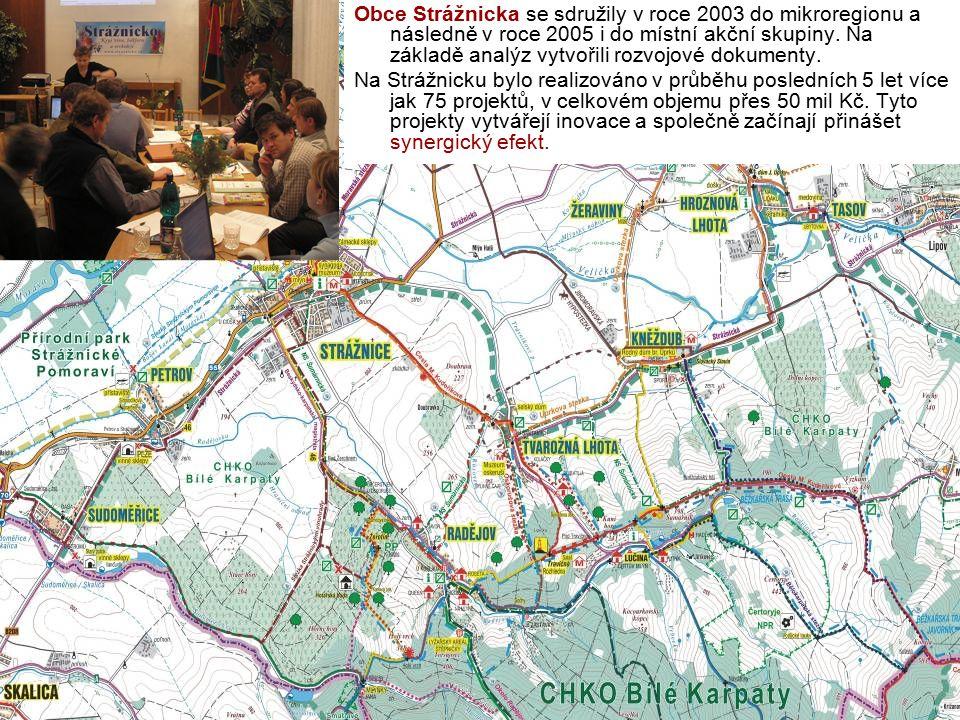 Obce Strážnicka se sdružily v roce 2003 do mikroregionu a následně v roce 2005 i do místní akční skupiny. Na základě analýz vytvořili rozvojové dokume