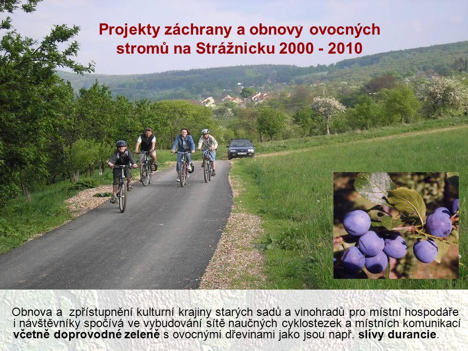 Obnova a zpřístupnění kulturní krajiny starých sadů a vinohradů pro místní hospodáře i návštěvníky spočívá ve vybudování sítě naučných cyklostezek a m