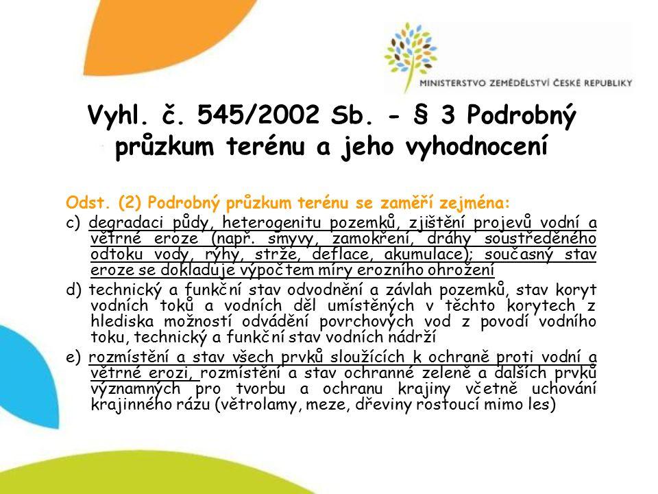 Vyhl.č. 545/2002 Sb. - § 9 Plán společných zařízení, odst.
