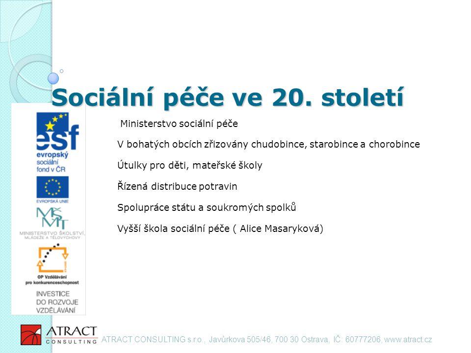 Sociální péče ve 20.