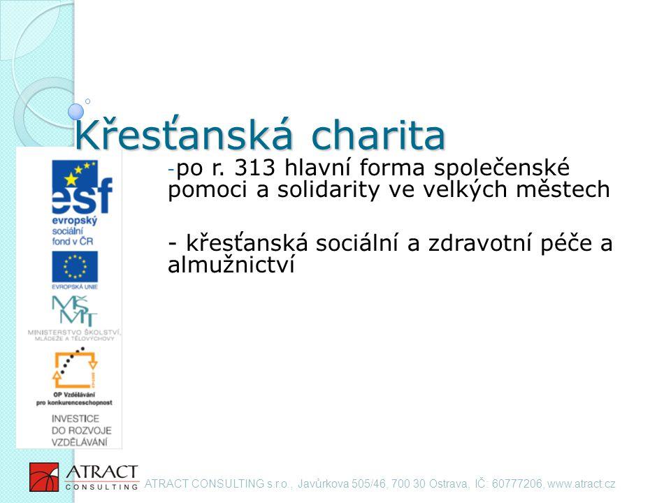 Křesťanská charita - po r.