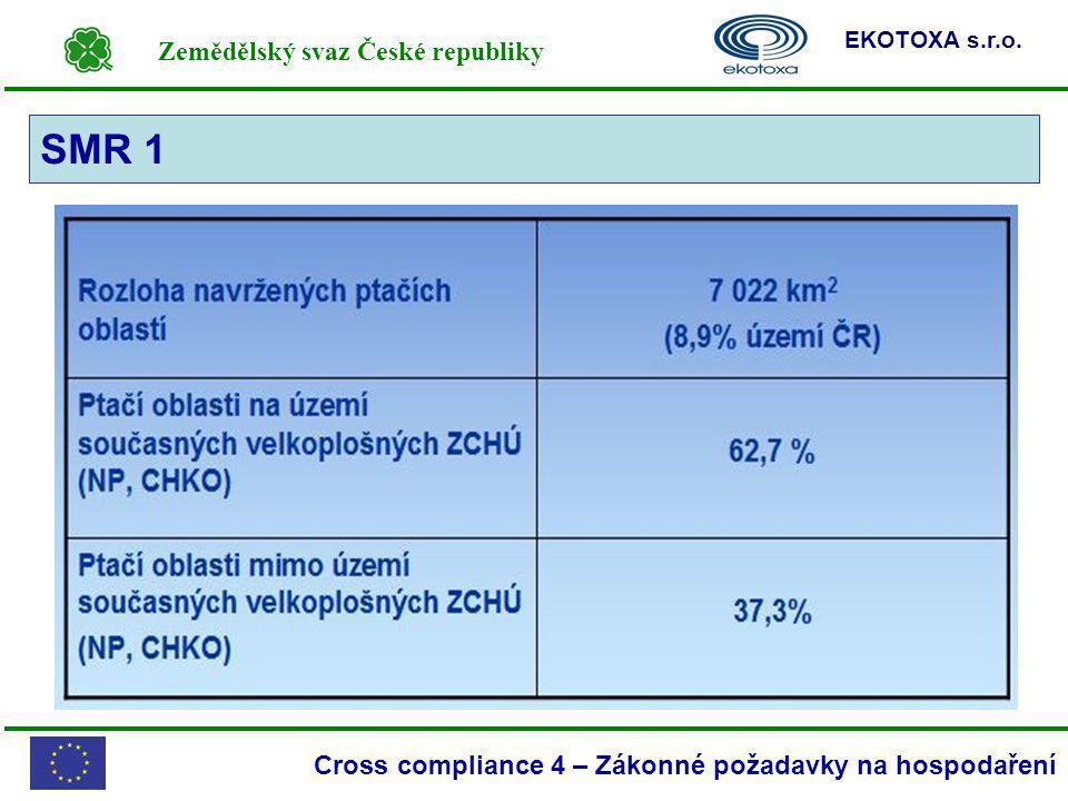 Zemědělský svaz České republiky EKOTOXA s.r.o. Cross compliance 4 – Zákonné požadavky na hospodaření SMR 1