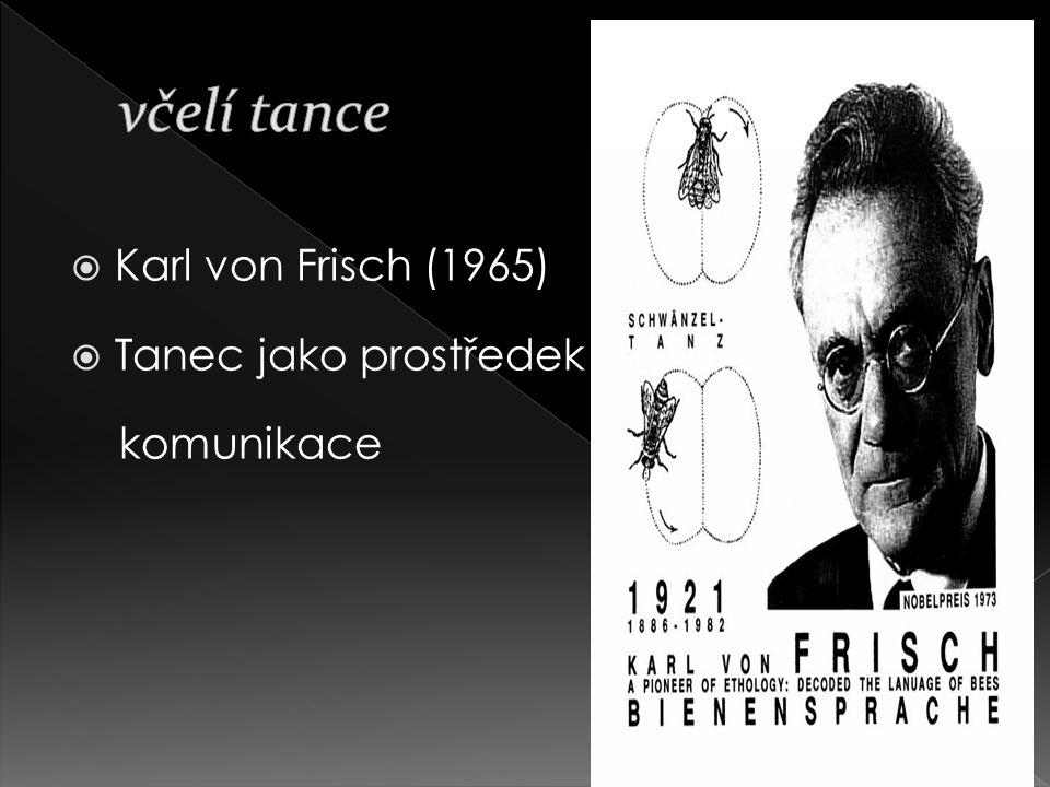  Karl von Frisch (1965)  Tanec jako prostředek komunikace