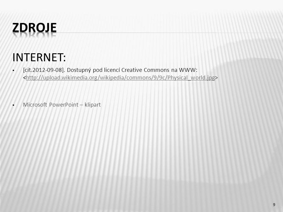INTERNET:  [cit.2012-09-08]. Dostupný pod licencí Creative Commons na WWW: http://upload.wikimedia.org/wikipedia/commons/9/9c/Physical_world.jpg  Mi
