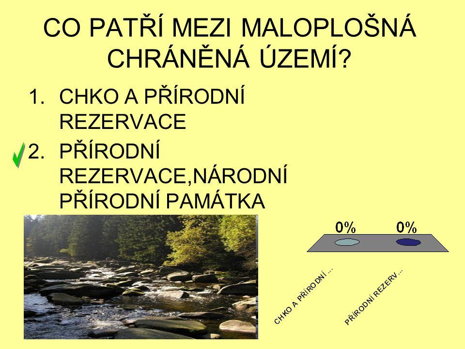 KOLIK BIOSFÉRICKÝCH REZERVACÍ JE V ČR? 1.8 2.7 3.6