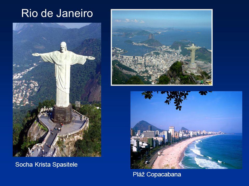 Socha Krista Spasitele Rio de Janeiro Pláž Copacabana