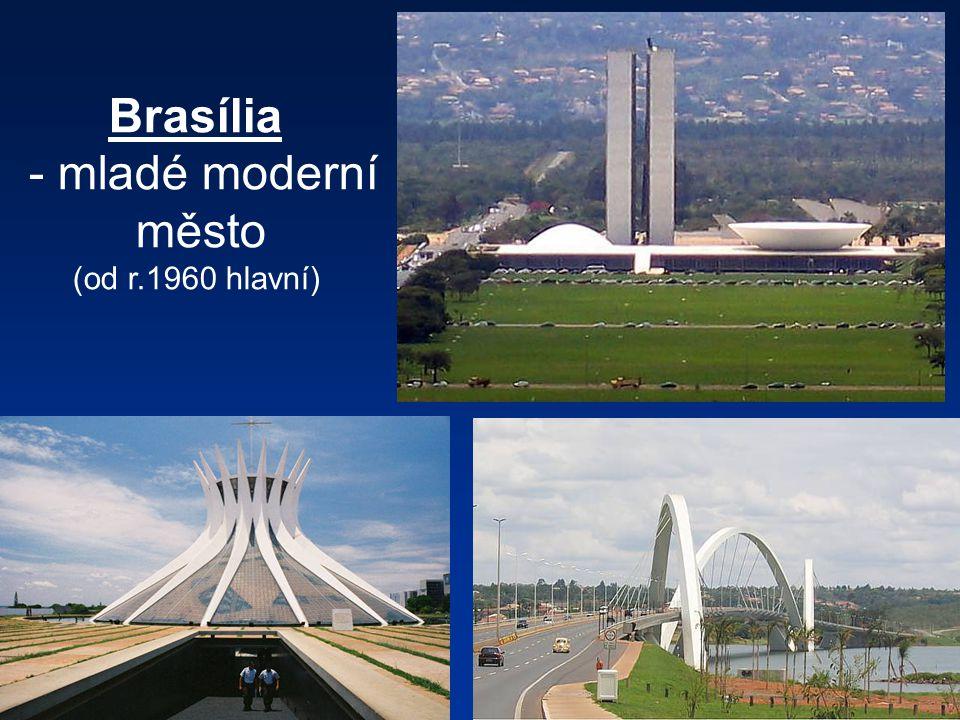 Brasília - mladé moderní město (od r.1960 hlavní)