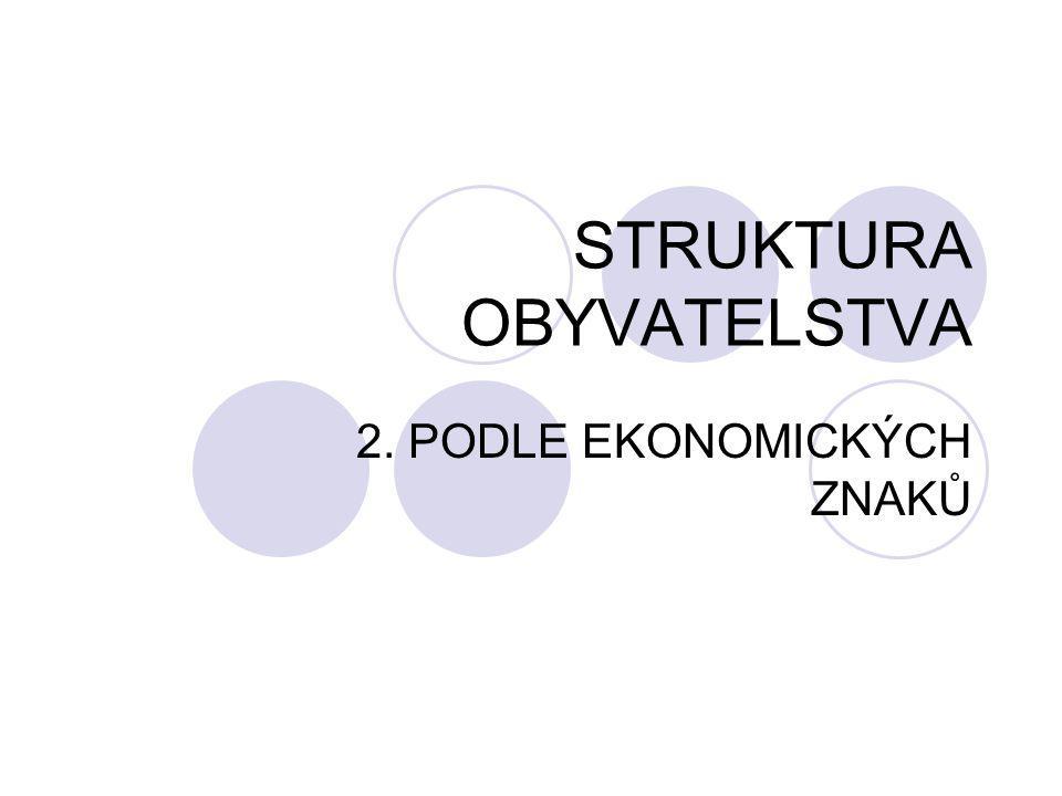STRUKTURA OBYVATELSTVA 2. PODLE EKONOMICKÝCH ZNAKŮ