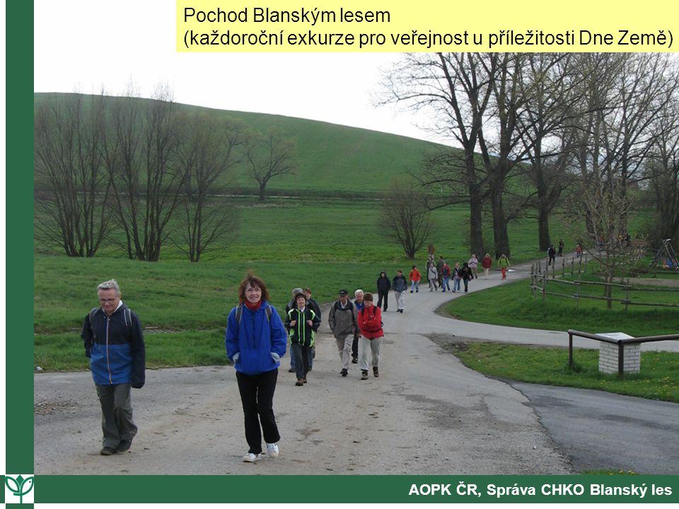 AOPK ČR, Správa CHKO Blanský les Pochod Blanským lesem (každoroční exkurze pro veřejnost u příležitosti Dne Země)
