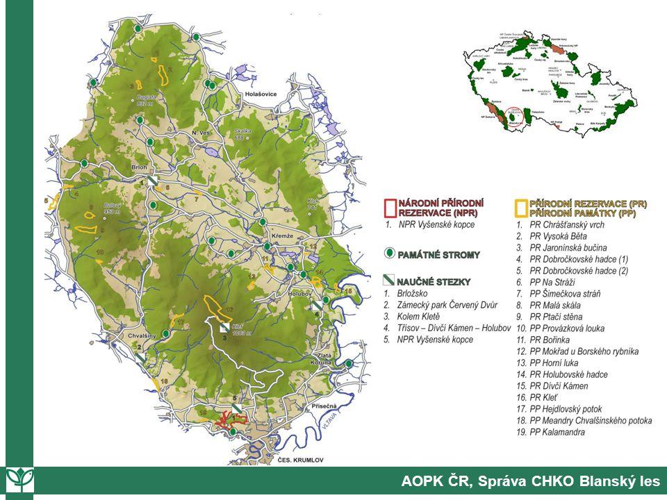 "Správa CHKO Blanský les 1.orgán státní správy: ""úřední agenda 2.odborný orgán: výzkum, odborná stanoviska atd."