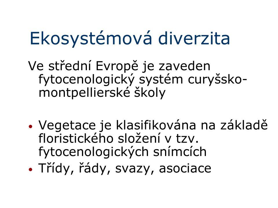 Ve střední Evropě je zaveden fytocenologický systém curyšsko- montpellierské školy Vegetace je klasifikována na základě floristického složení v tzv. f