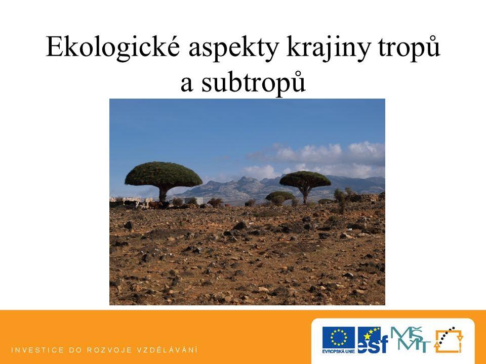 Ekologické aspekty krajiny tropů a subtropů