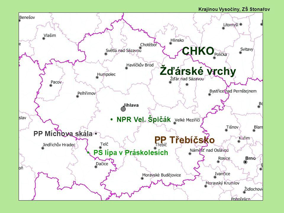 Krajinou Vysočiny, ZŠ Stonařov CHKO Žďárské vrchy PP Třebíčsko NPR Vel.
