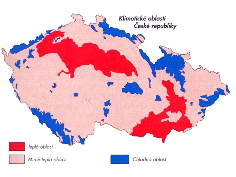 Nejvýznamnější podnebné pásma pro využití CR 1) mírný (př.