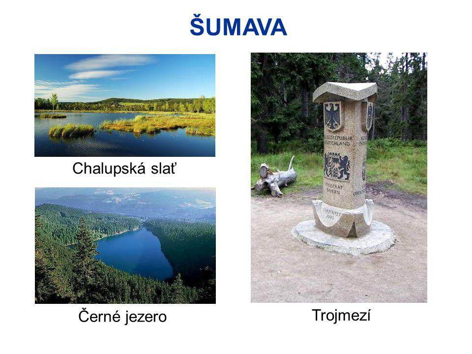 ŠUMAVA Černé jezero Chalupská slať Trojmezí