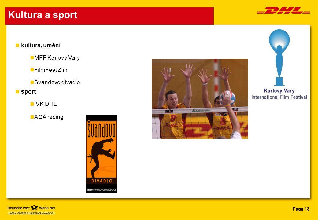 Page 13 Kultura a sport kultura, umění MFF Karlovy Vary FilmFest Zlín Švandovo divadlo sport VK DHL ACA racing