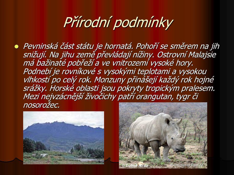 Přírodní podmínky Pevninská část státu je hornatá.