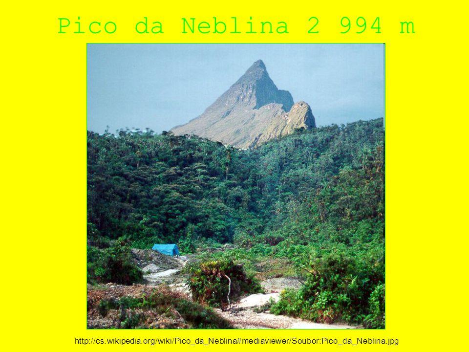 Pico da Neblina 2 994 m http://cs.wikipedia.org/wiki/Pico_da_Neblina#mediaviewer/Soubor:Pico_da_Neblina.jpg