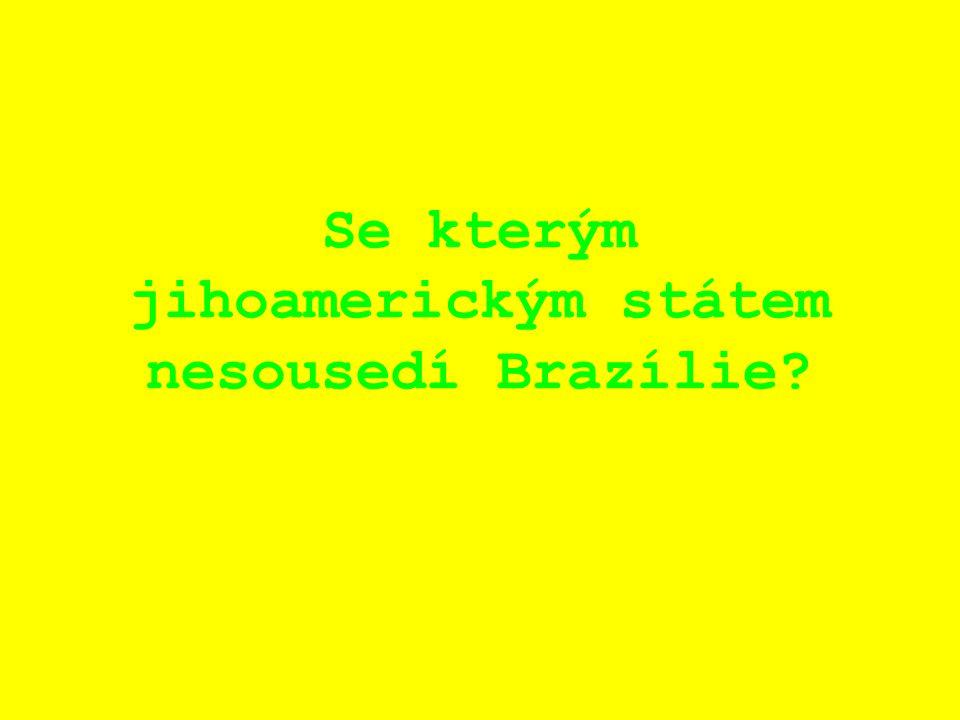 Se kterým jihoamerickým státem nesousedí Brazílie