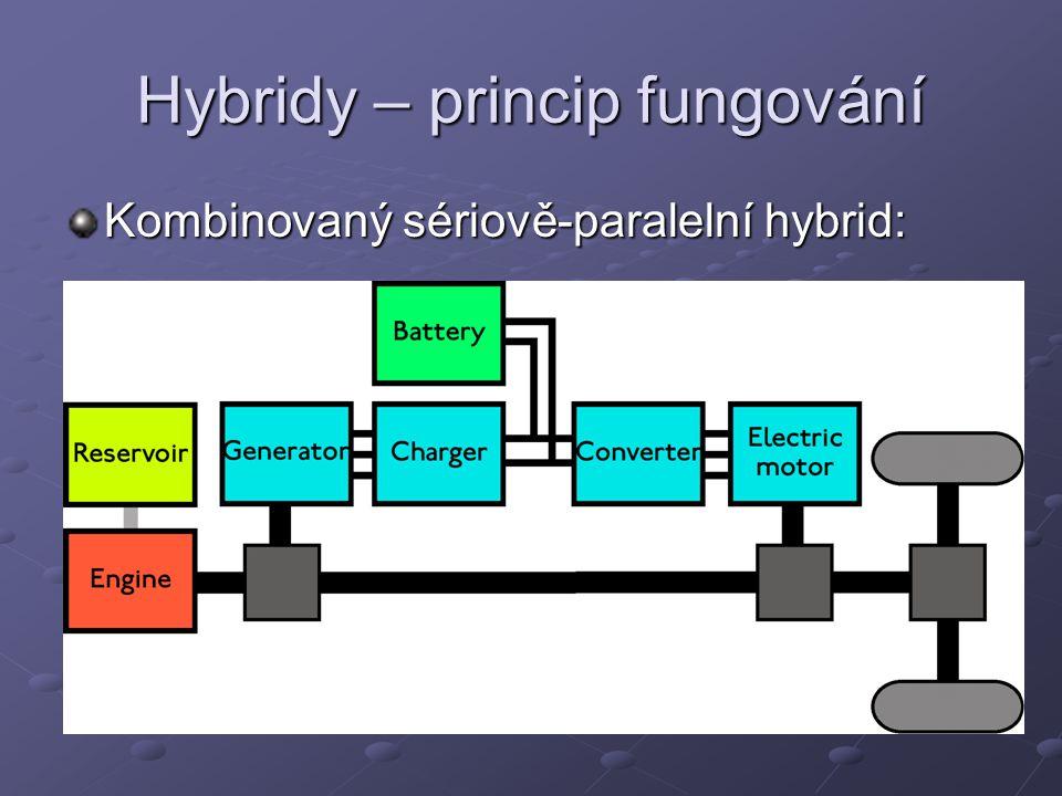 Hybridy – princip fungování Kombinovaný sériově-paralelní hybrid: