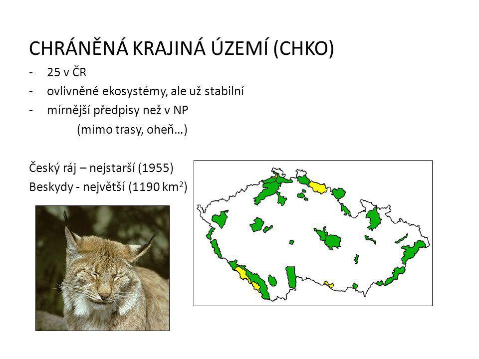 REZERVACE -národní přírodní rezervace (NPR) -přírodní rezervace (PR) -území s mimořádnými přírodními hodnotami -Jizerskohorské bučiny, Kokořínský důl, aj.