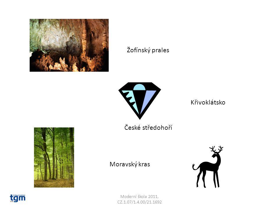 České středohoří Křivoklátsko Žofínský prales Moravský kras
