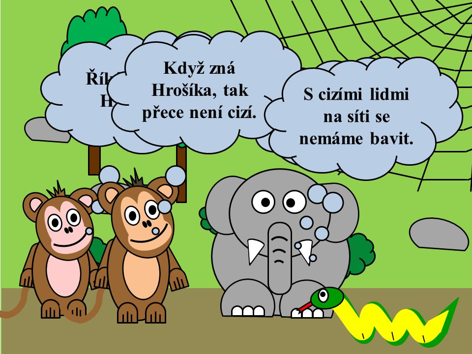 A Sloník si udělal nové SELFIE.Když zná Hrošíka, tak přece není cizí.