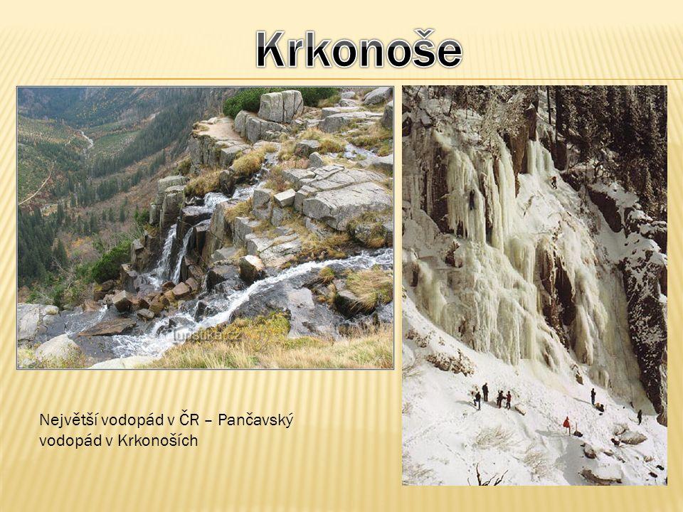 Největší vodopád v ČR – Pančavský vodopád v Krkonoších