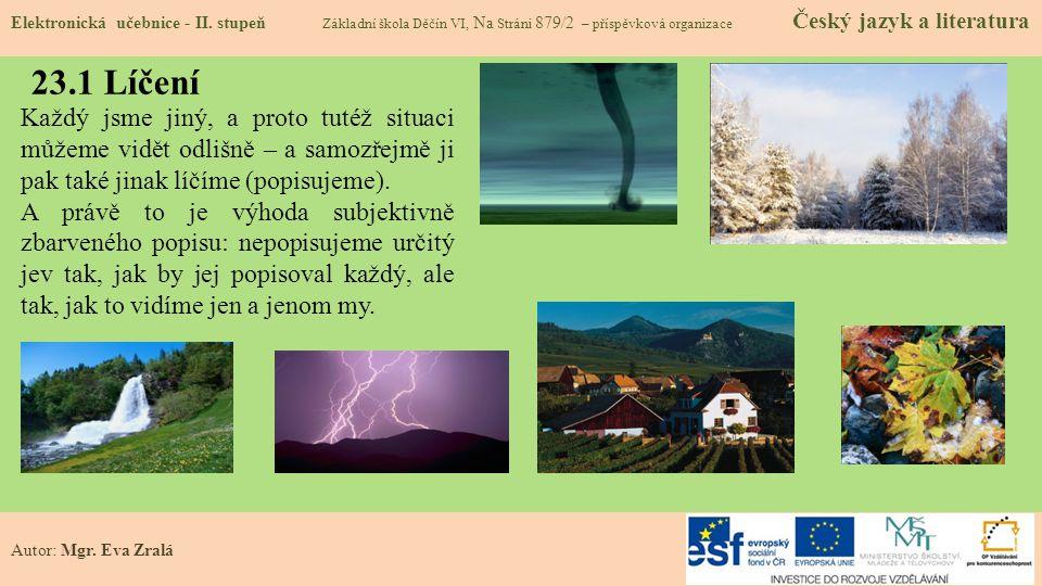 23.1 Líčení Elektronická učebnice - II.