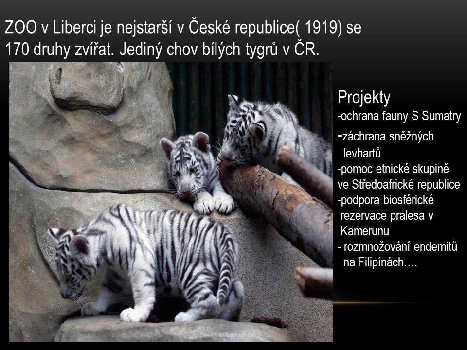 ZOO v Liberci je nejstarší v České republice( 1919) se 170 druhy zvířat.