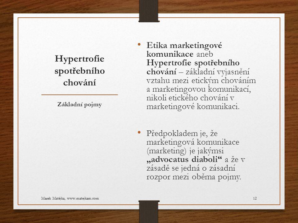 Hypertrofie spotřebního chování Etika marketingové komunikace aneb Hypertrofie spotřebního chování – základní vyjasnění vztahu mezi etickým chováním a