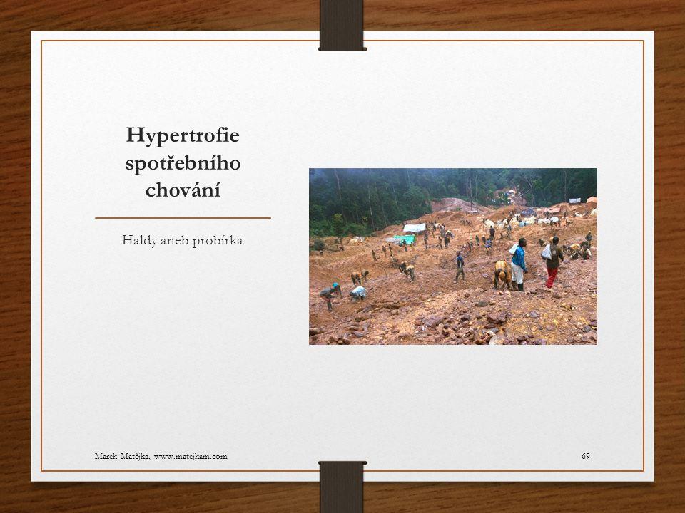 Hypertrofie spotřebního chování Haldy aneb probírka Marek Matějka, www.matejkam.com69
