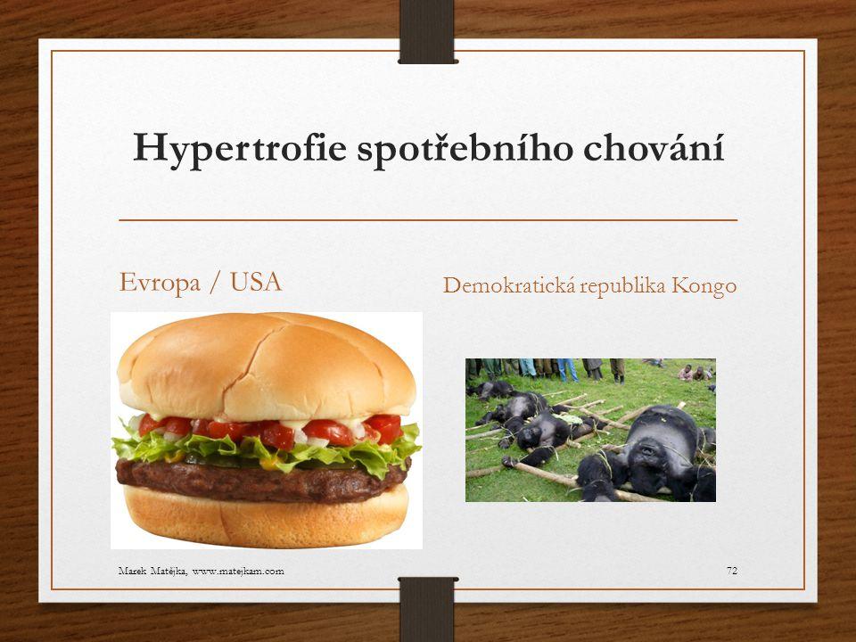 Hypertrofie spotřebního chování Evropa / USA Demokratická republika Kongo Marek Matějka, www.matejkam.com72