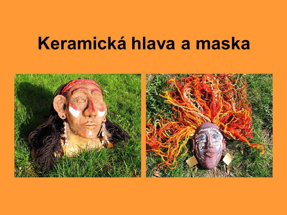 Keramická hlava a maska