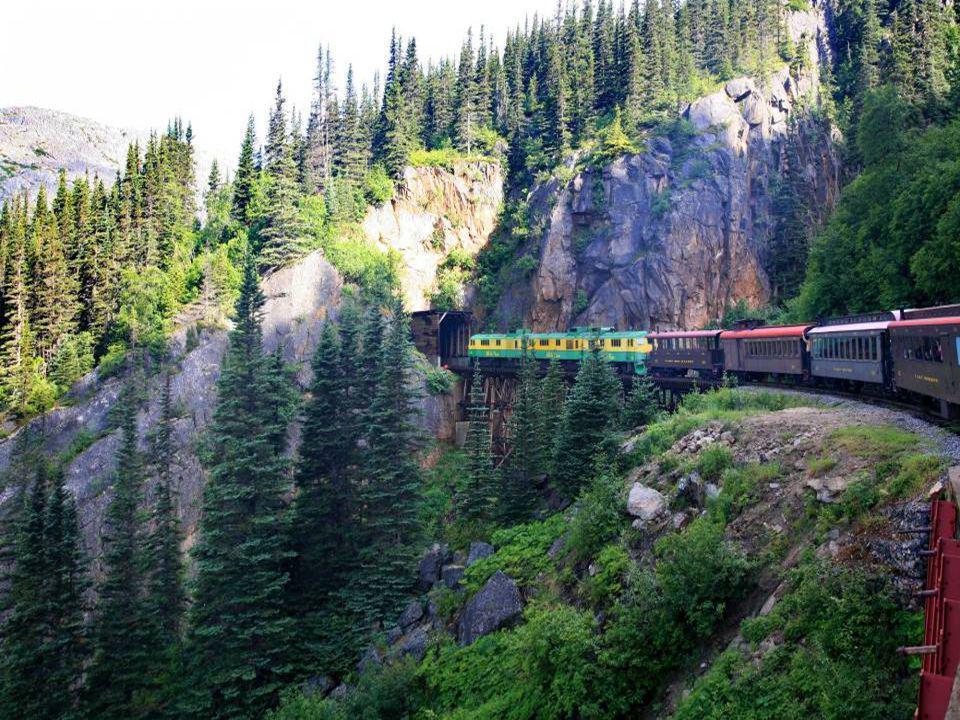 Skagway, zastávka vlaku při jízdě přes White Pass